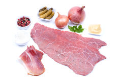 Ingredients for beef rolls Stock Images