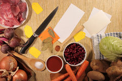 Ingredients for borsch Stock Image