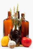 Ingredients and bottles Royalty Free Stock Photography