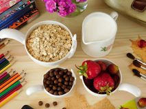 Ingredients for breakfast Royalty Free Stock Images