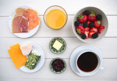 Ingredients of breakfast Stock Images
