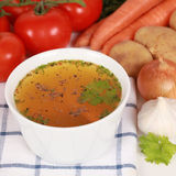 Ingredients for a broth Stock Images