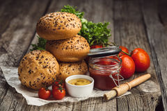 Ingredients for Burgers Stock Image