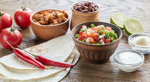Ingredients for burrito Stock Image