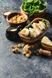 Ingredients for Caesar salad Stock Photos