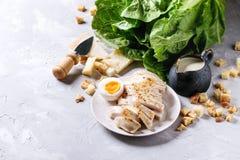 Ingredients for Caesar salad Royalty Free Stock Photo