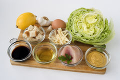 Ingredients: Caeser Salad with chicken Stock Photography