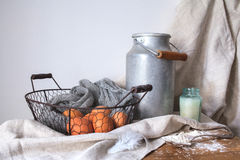 Ingredients for a cake on a white cotton fabric Stock Photography