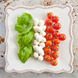 Ingredients for Caprese Salad Royalty Free Stock Images