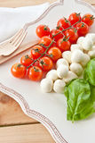 Ingredients for Caprese Salad Stock Image