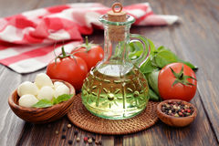 Ingredients for caprese salad Royalty Free Stock Photography