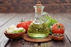 Ingredients for caprese  salad Royalty Free Stock Image