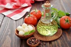 Ingredients for caprese  salad Stock Photo