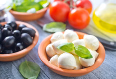 Ingredients for caprese Royalty Free Stock Photo