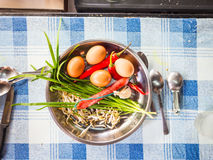Ingredients for Char Kway Teow Stock Image