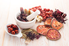 Ingredients for Chinese herbal soup Royalty Free Stock Image