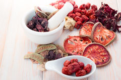 Ingredients for Chinese herbal soup Stock Image
