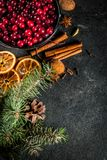Ingredients for Christmas baking and drinks Stock Photos