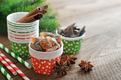 Ingredients for christmas baking Stock Photography