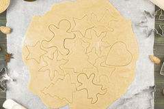 Ingredients for Christmas ginger gingerbreads with honey and cin Stock Image