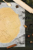 Ingredients for Christmas ginger gingerbreads with honey Royalty Free Stock Photography