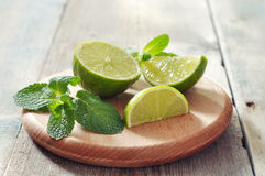 Ingredients  for coctail mojito Royalty Free Stock Images