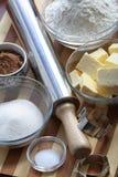 Ingredients of cookies Stock Photos