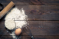 Ingredients for cooking baking Royalty Free Stock Photo