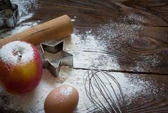 Ingredients for cooking baking Royalty Free Stock Photography