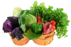 Ingredients for cooking cabbage stew, soups, salads in bushels Royalty Free Stock Images