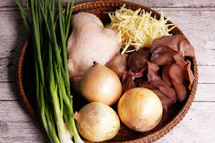 Ingredients for cooking Chicken with Ginger Royalty Free Stock Photo