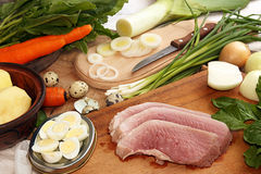 Ingredients for cooking delicious healthy dinner. Royalty Free Stock Photos