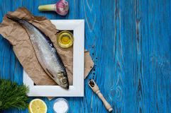 Ingredients for cooking fish Stock Image