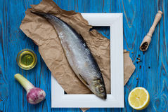 Ingredients for cooking fish Stock Photography