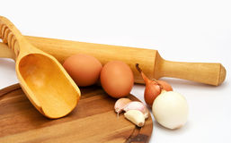 Ingredients for cooking food Royalty Free Stock Photography