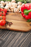 Ingredients for cooking healthy and delicious food Royalty Free Stock Images
