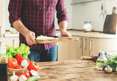 Ingredients for cooking healthy food with place for your product Royalty Free Stock Photos