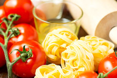 Ingredients for cooking healthy mediterranean dish Stock Image