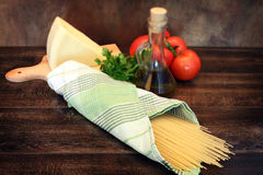 Cooking italian pasta Royalty Free Stock Photos