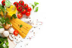 Ingredients for cooking Italian pasta Stock Photography