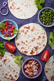 Ingredients for cooking Mexican tacos Stock Image