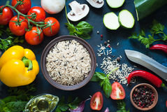 Ingredients for cooking Royalty Free Stock Photos