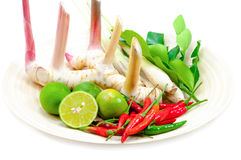 Ingredients For Cooking 'Tom Yum' Dish Chili Hot Spicy Soup Thai Stock Photo
