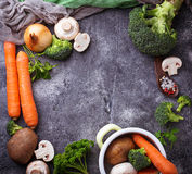 Ingredients for cooking vegetable soup Stock Images
