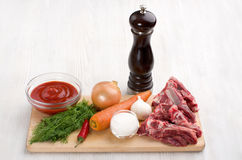 Ingredients for cooking Stock Image