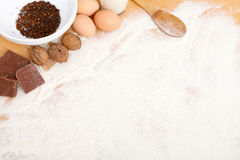 Ingredients - copy space Royalty Free Stock Images