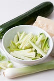 Ingredients for a Courgette Sauce Royalty Free Stock Photos