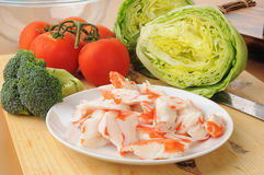 Ingredients for crab salad Stock Images
