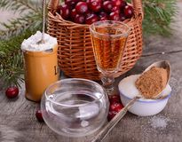 Ingredients for cranberry sauce organic wild Stock Image