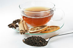 Ingredients for a cup of tea Royalty Free Stock Photography